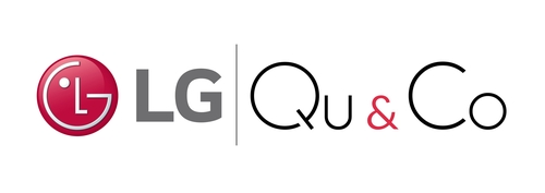 The logos of LG Electronics Inc. and Dutch quantum computing software developer Qu & Co are shown in this image provided by LG on April 15, 2021. (PHOTO NOT FOR SALE) (Yonhap)