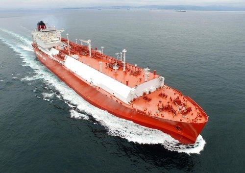 This file photo provided by Korea Shipbuilding & Offshore Engineering Co.(KSOE) shows an LNG ship built by its main affiliate Hyundai Heavy Industries. (PHOTO NOT FOR SALE) (Yonhap)