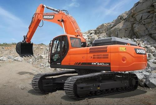 This photo provided by Doosan Infracore Co. shows its excavator, DX340LCA-K. (PHOTO NOT FOR SALE) (Yonhap)