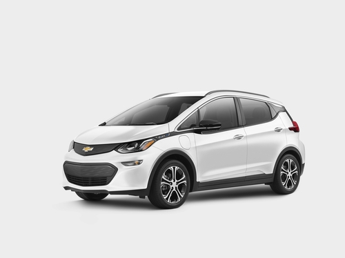 General Motors' Chevrolet Bolt electric vehicle equipped with LG Energy Solution Ltd.'s battery pack is seen in this photo provided by the automaker on April 30, 2021. (PHOTO NOT FOR SALE) (Yonhap)