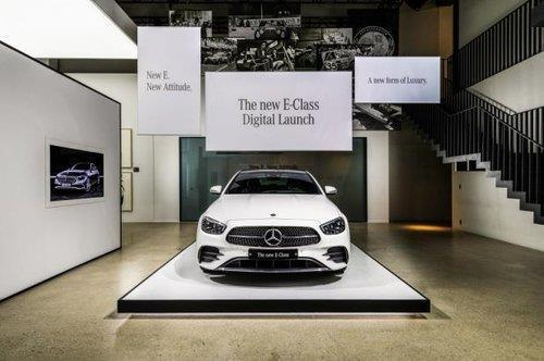 This file photo, taken Oct. 13, 2020, and provided by Mercedes-Benz Korea, shows the upgraded E-Class sedan. (PHOTO NOT FOR SALE) (Yonhap)