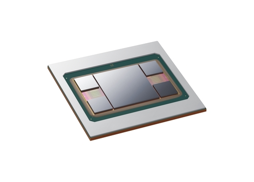 This photo, provided by Samsung Electronics Co. on May 6, 2021, shows its next-generation 2.5D chip packaging technology, Interposer-Cube4 (I-Cube4). (PHOTO NOT FOR SALE) (Yonhap)