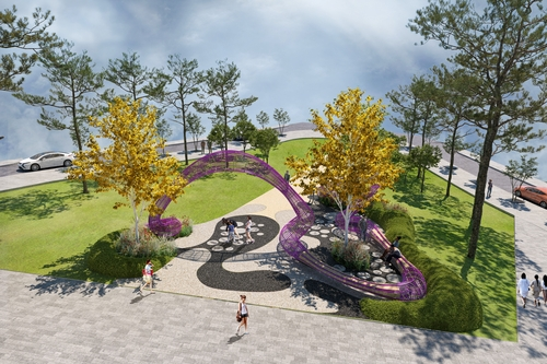 """This picture, provided by the Seoul metropolitan government, shows an illustration of """"The Vine's Web,"""" one of the gardens featured in the Seoul International Garden Show. (PHOTO NOT FOR SALE) (Yonhap)"""