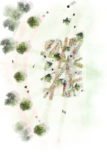 """This picture, provided by the Seoul metropolitan government, shows an illustration of """"Empathy Park,"""" one of the gardens featured in the Seoul International Garden Show. (PHOTO NOT FOR SALE) (Yonhap)"""