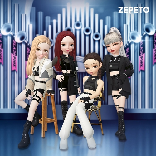 Digital avatars of K-pop girl group BLACKPINK on Naver Z Corp.'s metaverse platform Zepeto are shown in this image provided by the company. (PHOTO NOT FOR SALE) (Yonhap)