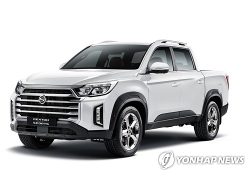 This file photo provided by SsangYong Motor shows the New Rexton Sports SUV. (PHOTO NOT FOR SALE) (Yonhap)